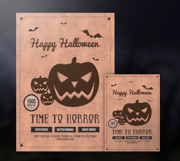 Free Printable Halloween Flyer Design