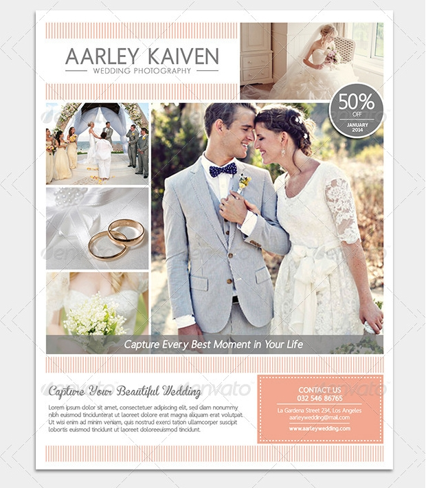 wedding photography flyer design
