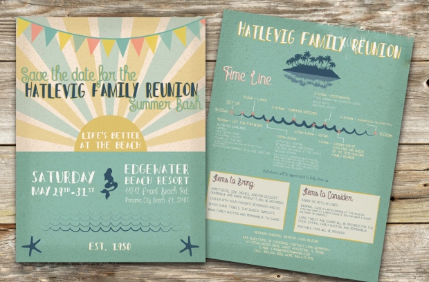 family reunion flyer design