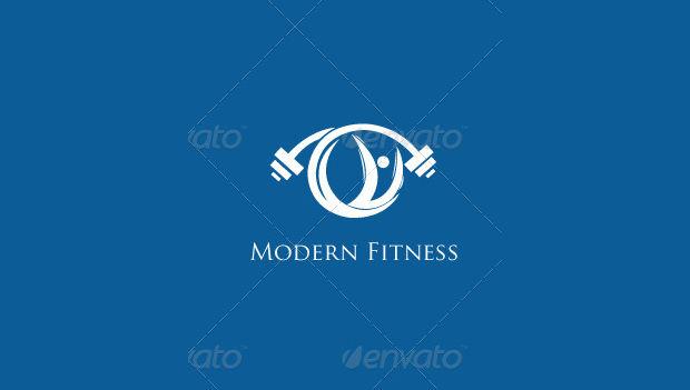 modern fitness logo design
