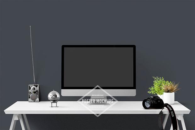 styled desktop computer mockup