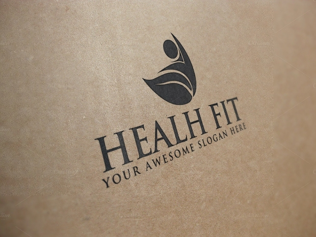 health fitness psd logo design