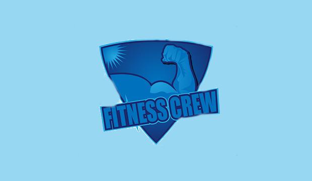 fitness crew logo design