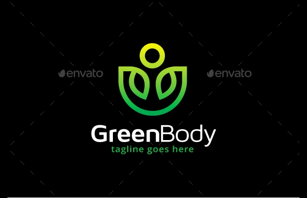 Green Body Fit Logo Idea
