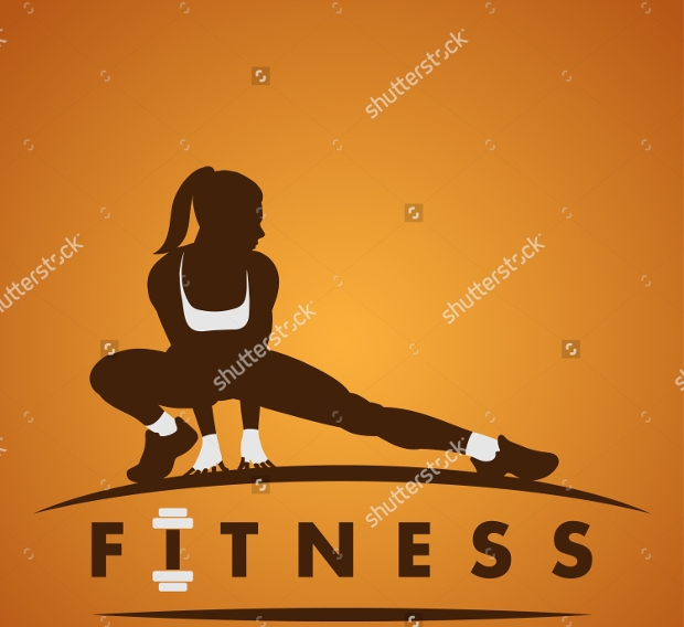 Female Fitness Logo Design