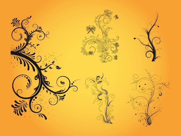 flowers and floral vector designs