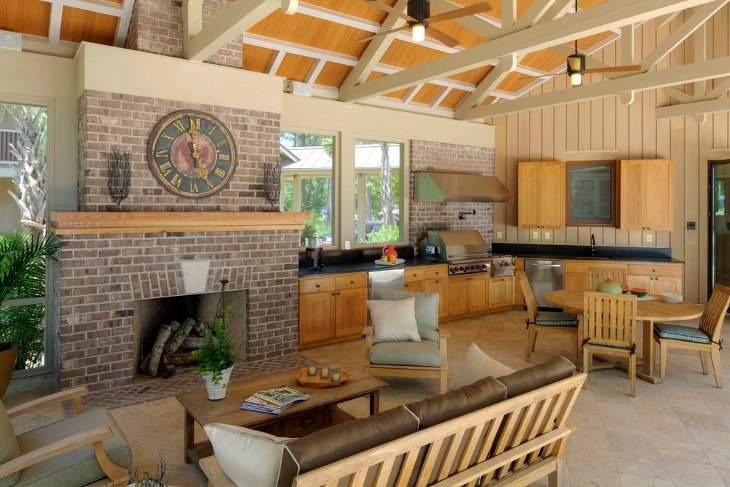 rustic outdoor kitchen design