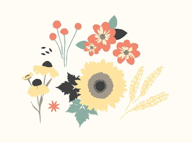autumn floral vector
