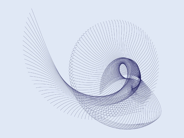 spiraling lines vector