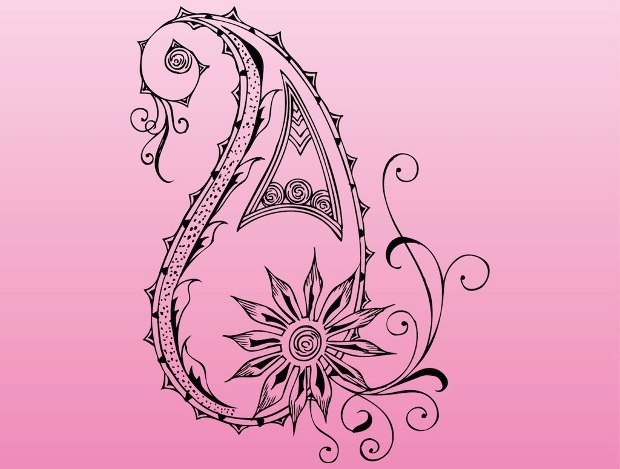 floral element vector design