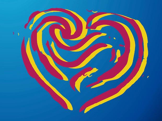 Lines Heart Romantic vector