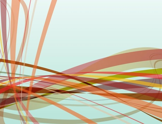 abstract vector swirling lines