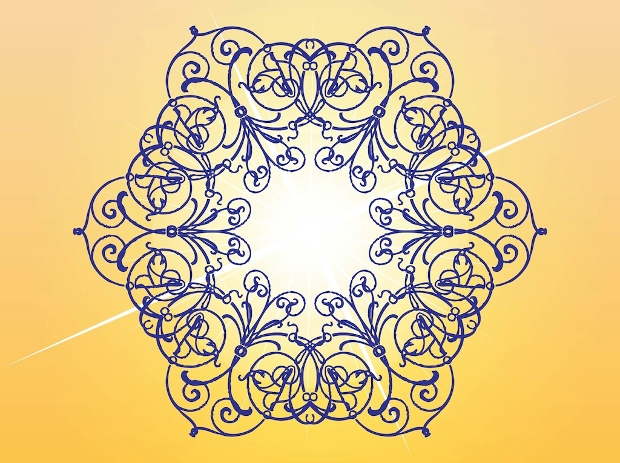 floral lines vector