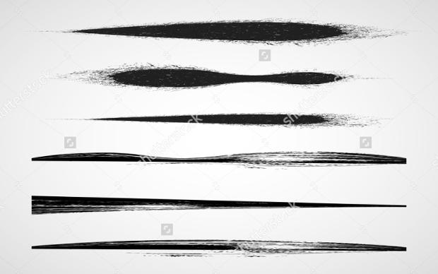 grunge brush line vector