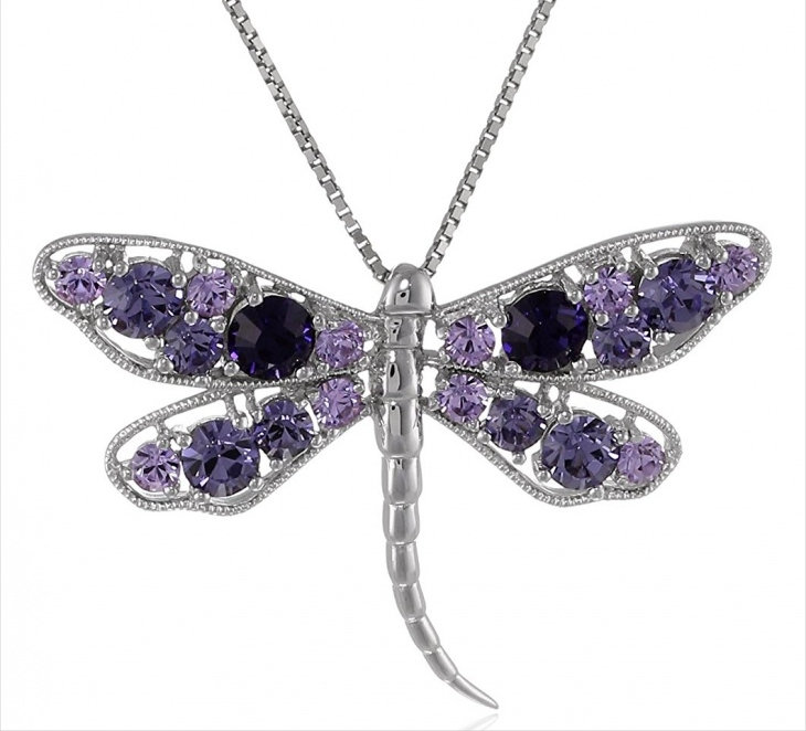 crystal dragonfly pendant