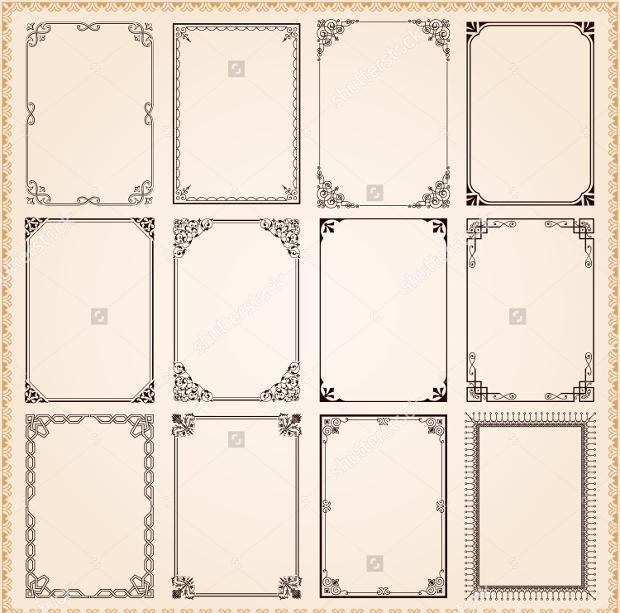 Vintage Frame Borders Vector