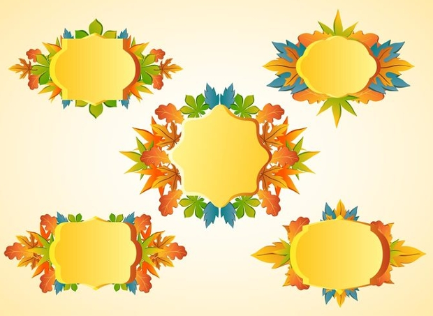 thanks giving frame vector