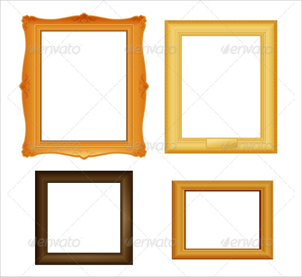 picture brown frames vector