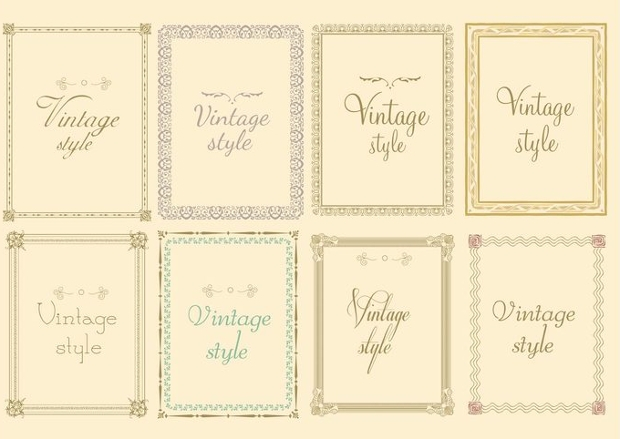 decorative vintage frame vector1