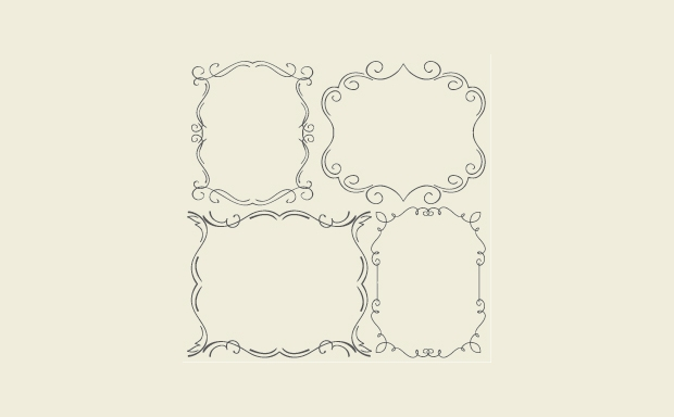 simple hand drawn frames vector