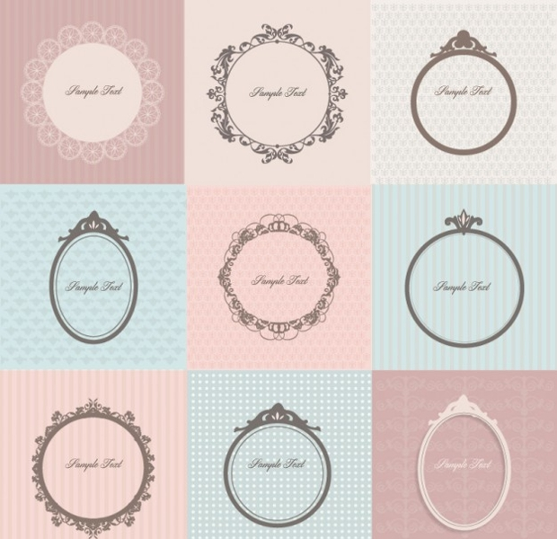 stylish retro frames vector1