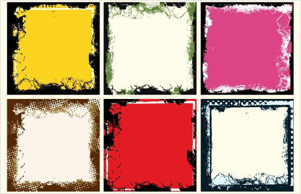grunge frame vector set1