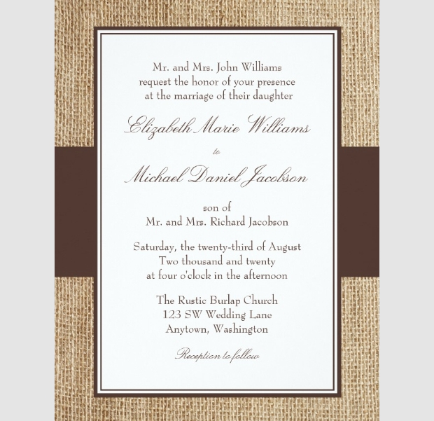 formal wedding invitation design