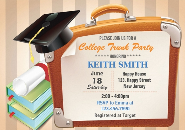 college graduation invitation design