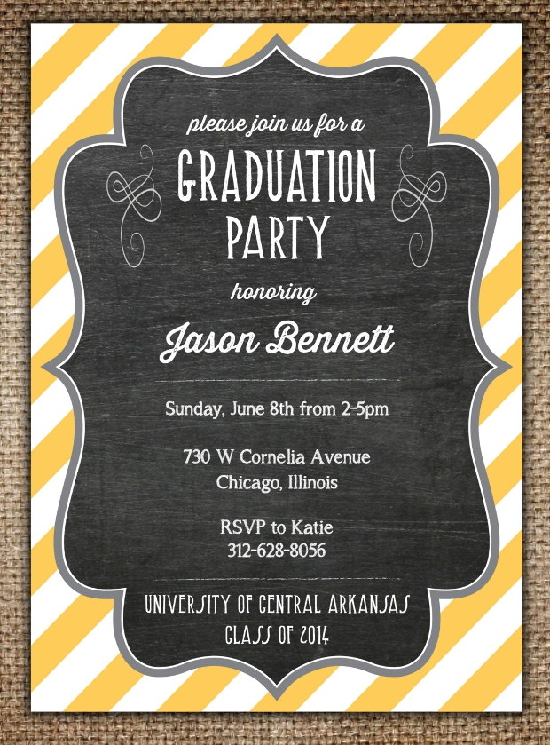 high school graduation invitation design