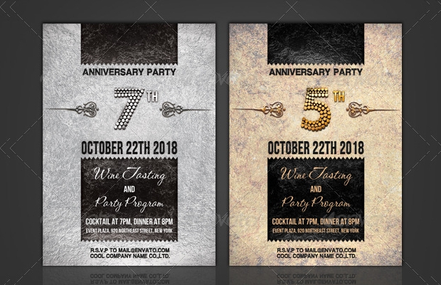 Corporate Anniversary Invitation Design