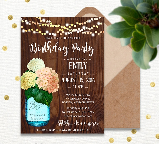 adult birthday invitation design