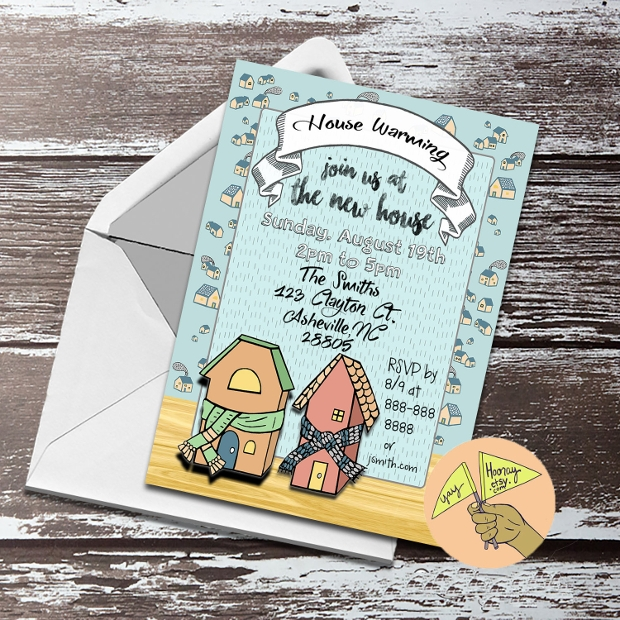 Printable Housewarming Invitation Design