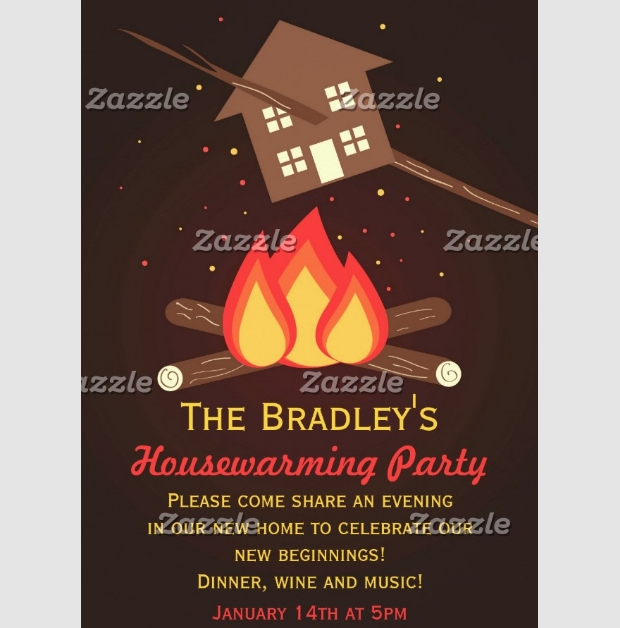 Funny Housewarming Invitation Design