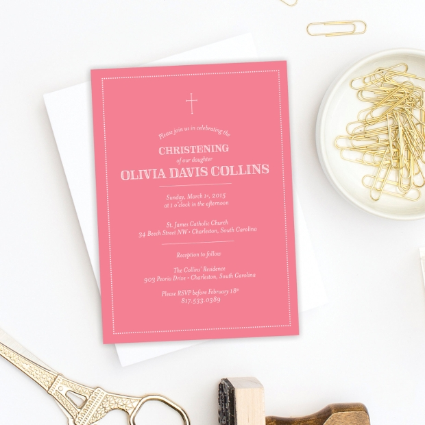 Modern Baptism Invitation Design