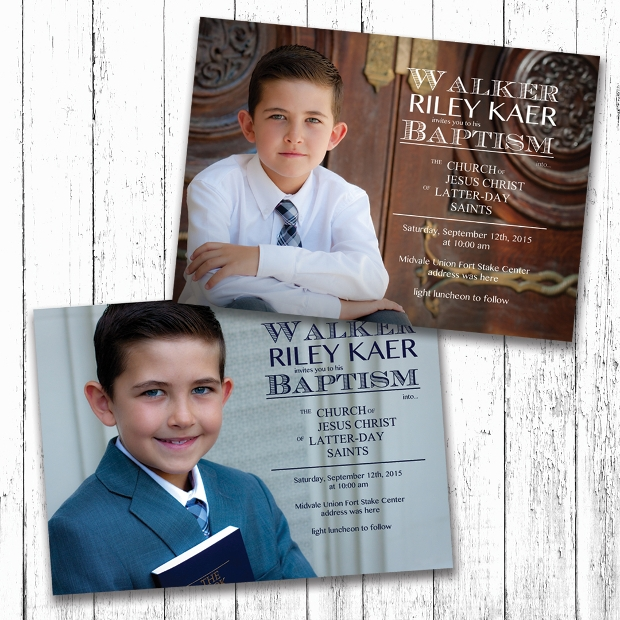 Boy Baptism Invitation Design