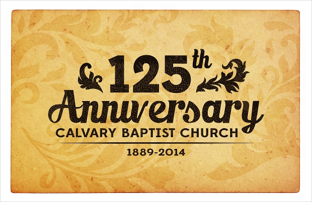 Church Anniversary Invitation Design