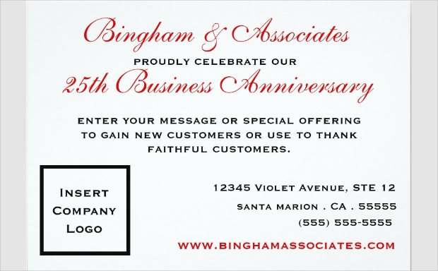 Business Anniversary Invitation Design