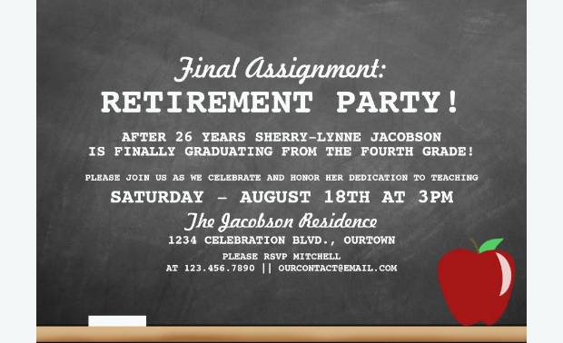 Teacher Retirement Party Invitation Design