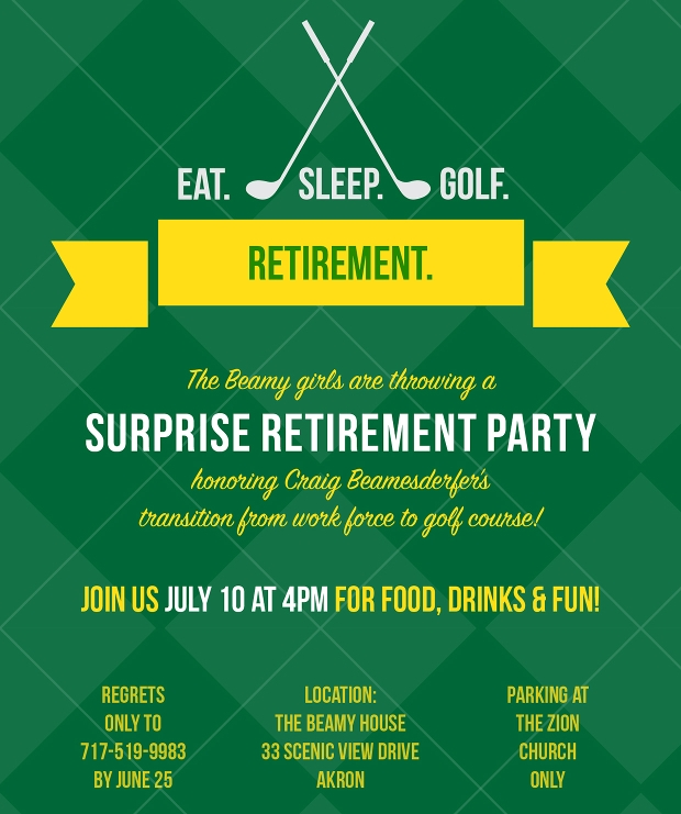 Surprise Retirement Party Invitation Design