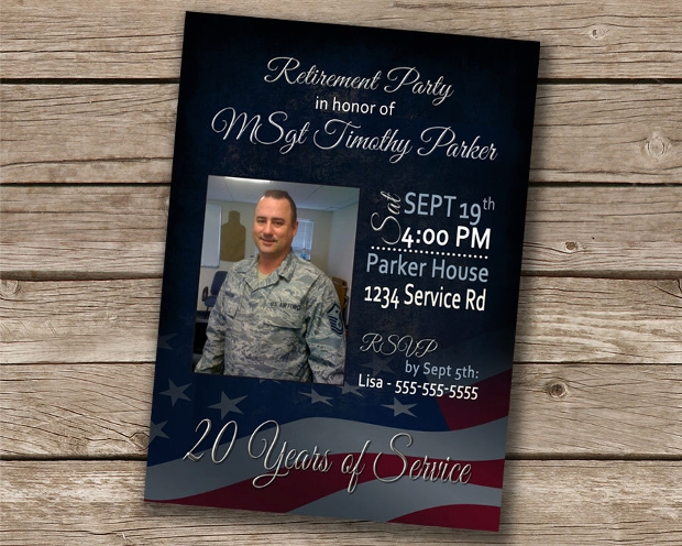 Military Retirement Party Invitation Design