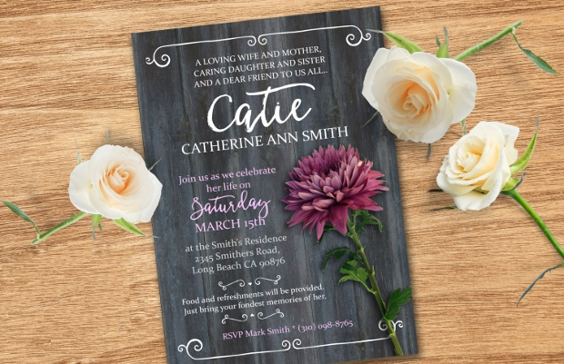 Funeral Service Invitation Design