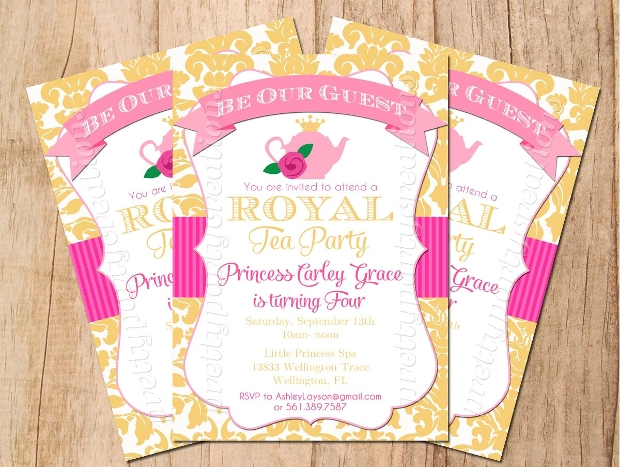 Princess Tea Party Invitation Design