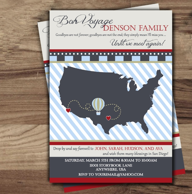 Farewell Party Invitation Design