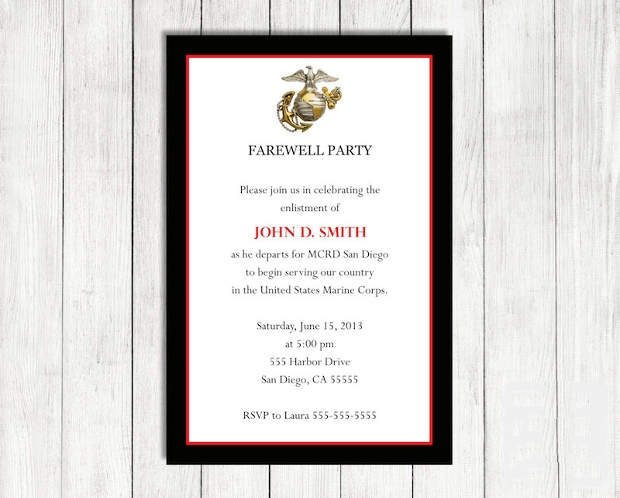 Military Farewell Invitation Design