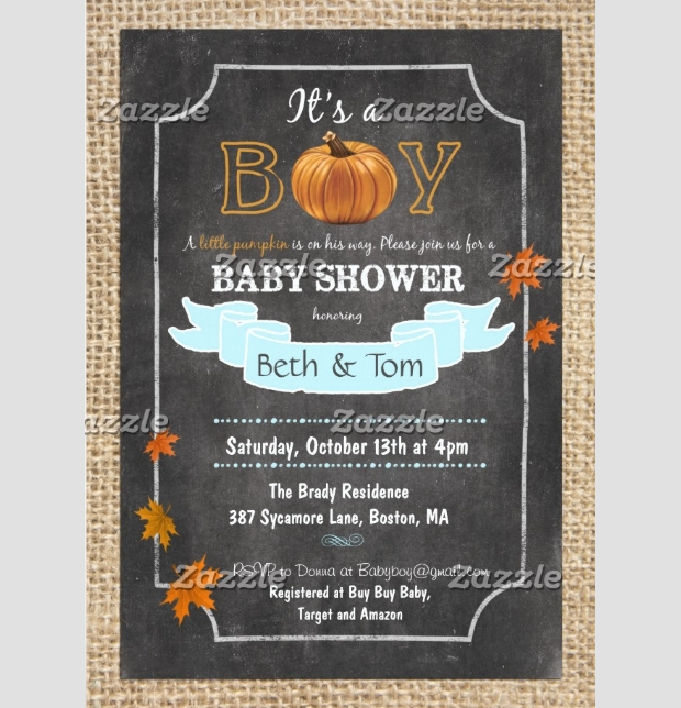 boy baby shower invitation design