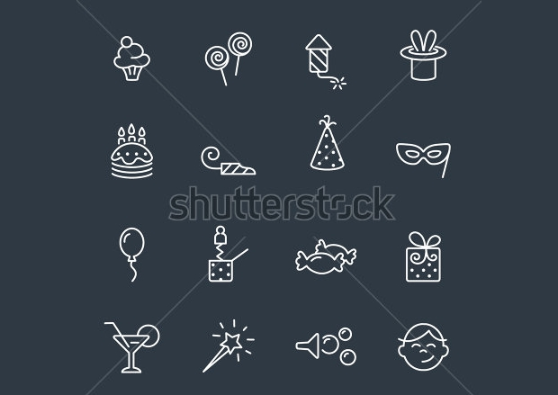 Funny Party Icons