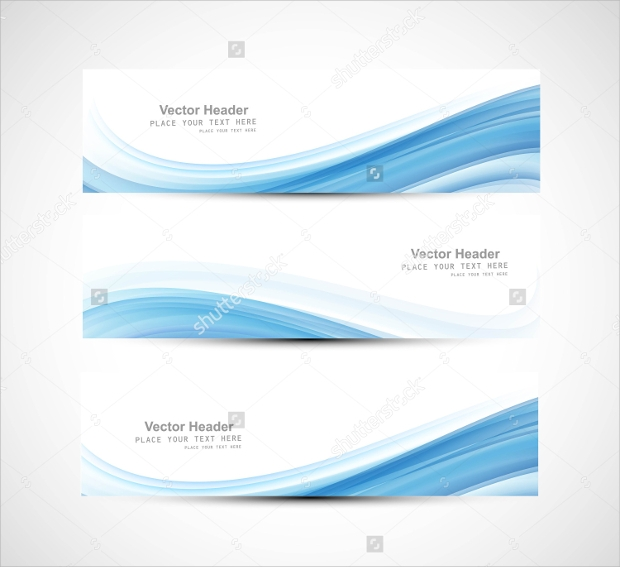 Abstract Blue Header Vector
