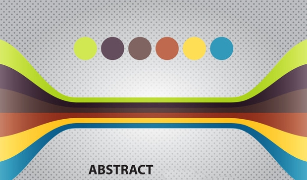 Free Lines Abstract Vector
