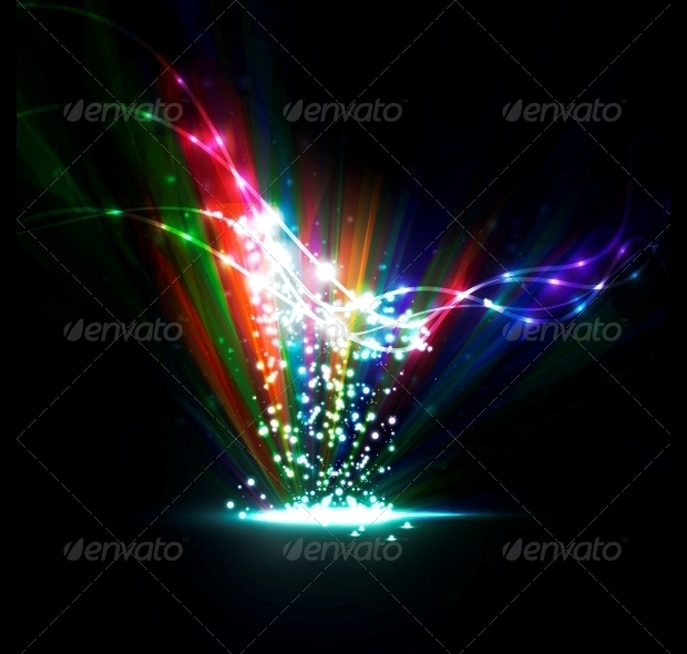 Rainbow Abstract Vector Illustration