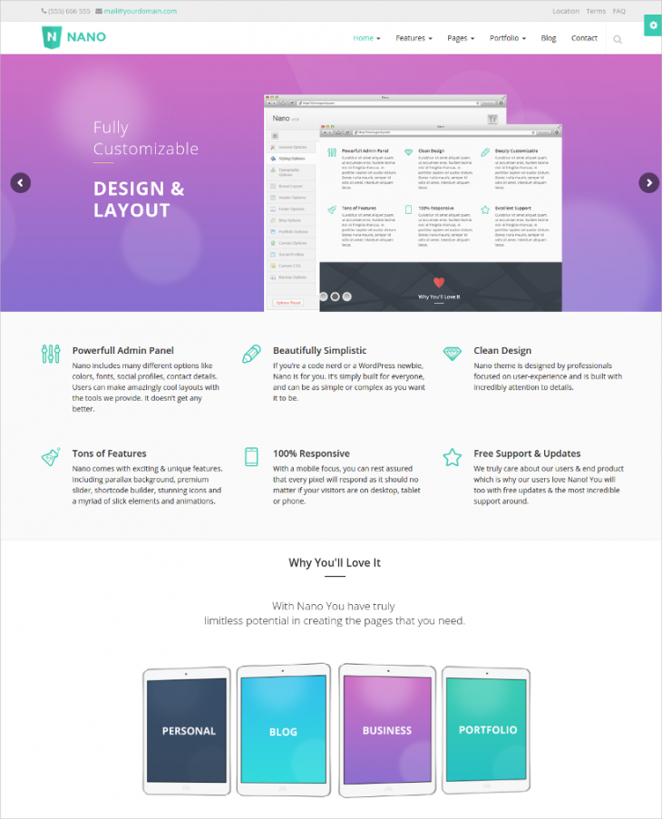 Ulta Responsive Parallax WordPress Theme